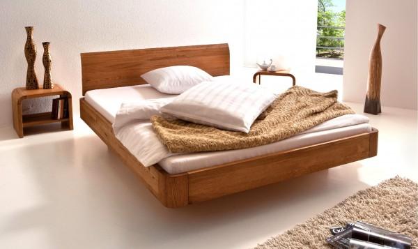 Wasserbett oder Gelbett komplett Oakline mit Lisio Kopfteil inkl. Airo Füße