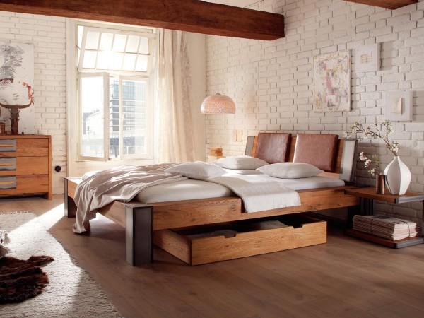 Full Size Gelbett Dual Oak-Line Wild Bett Bormio