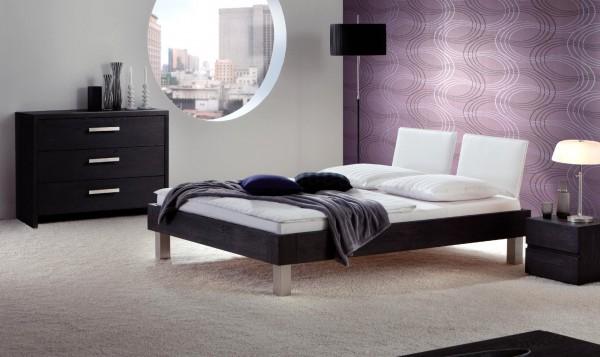 Wasserbett oder Gelbett komplett Oakline mit Palma Kopfteil + Polster inkl. Sico Füße